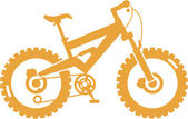 Simplified mountain bike — Stock Vector