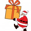 Royalty-Free Stock Vector Image: Santa carrying very large present