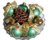 Collection of Old Christmas Bulbs — Stock Photo