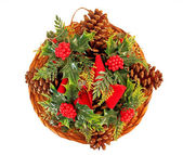Vintage Christmas Wreath — Stock Photo