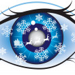 Santa eye — Stock Vector