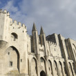 Palace of the popes in Avignon — Stock Photo