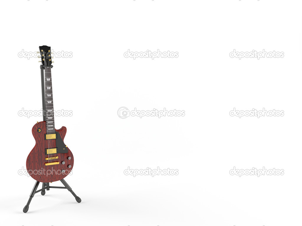 Electric guitar isolated on white background   Stock Photo #7324613