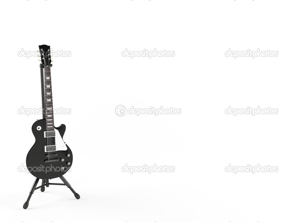Electric guitar isolated on white background   Stock Photo #7324615