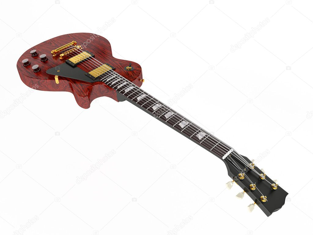 Electric guitar isolated on white background  — Stock Photo #7324700
