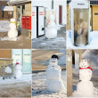 Snowman collage. — Stockfoto