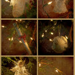 Royalty-Free Stock Photo: Textured Christmas ornaments collage.