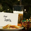 Royalty-Free Stock Photo: Children left beer and cookies for Santa.