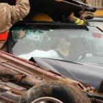 Car accident scene. — Stock Photo
