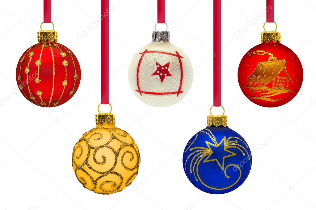 Christmas balls on white background — Stock Photo #7349264