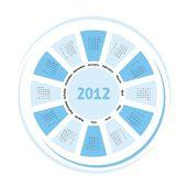 Dairesel 2012 takvimi — Stok fotoğraf