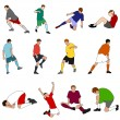 Sport - Footballers 01 — Stock Vector