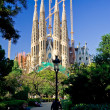 Sagrada Familia cathedral in Barcelona, Spain - Stok fotoraf