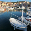 Harbor with yachts in Cassis, France - Stock Photo