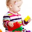 Baby girl playing — Foto Stock