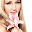 Orchid lady — Stock Photo #7455557