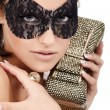 Stock Photo: Lady in mask