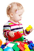 Baby girl playing — Stock Photo