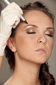 Maquiagem permanente — Foto Stock