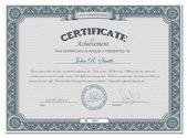Detailed cerificate — Stock Vector