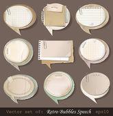 Discurso de bolhas de papel retro — Vetorial Stock