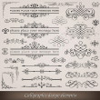 Royalty-Free Stock Vector Image: Calligraphic elements and page decoration