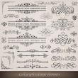 Calligraphic elements and page decoration — Vector de stock #7558292
