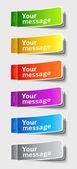 Multicolored stickers — Stock Vector