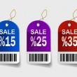 Multicolored sale labels — Stock Vector