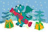 New Year's dragon — Stock Vector