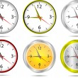 Vector office clocks — Stock Vector