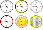 Horloges de bureau de vecteur — Vecteur
