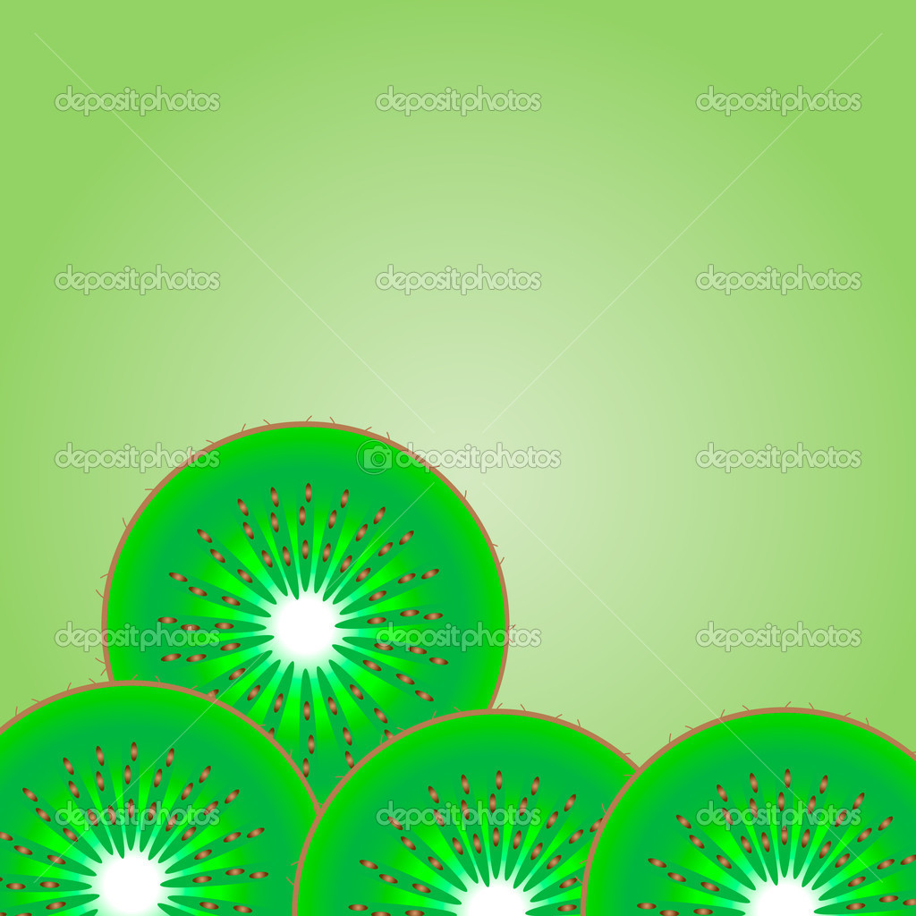 Background of kiwi - vector illustration .  Stock Vector #6811755