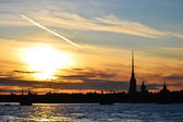 St. Petersburg, Russia at sunset — Stock Photo
