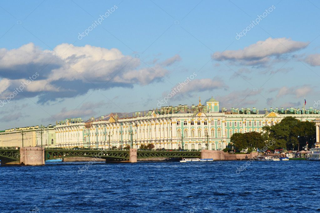 The Winter Palace and The Palace Bridge, St.Petersburg, Russia  Stock Photo #6877167