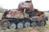 Rusty old german military tank — Stock Photo