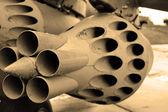 деталь военных самолетов. сепия. — Стоковое фото