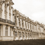 Catherine Palace. Tsarskoe Selo. Sepia. — Stock Photo
