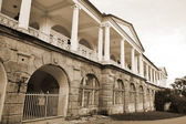 Palace in Tsarskoe Selo. Sepia. — Stock Photo