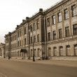 View of the street in Kronstadt. Sepia. — Stock Photo