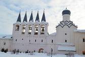Belfort in russische orthodoxe klooster — Stockfoto