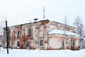 Ruins of a church in Tikhvin. — Stock Photo