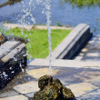 Stock Photo: Small fountain in Petergof