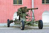 Anti-aircraft gun — Stock Photo