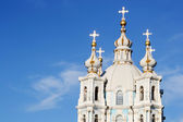 Smolny Cathedral on a sunny summer day — Stock Photo