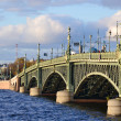 Stock Photo: Trinity Bridge in St.Petersburg