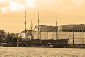 View of the St.Petersburg. Sepia. — Stock Photo