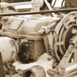 Old mechanism. sepia. - Stock Photo