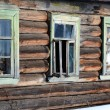 Fragment of house in Russian village. - Stock Photo