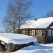 The house of the peasant in Russian village. - Stock Photo